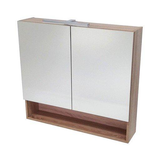 Zrcadlová skříňka Naturel Vario Dekor 75x68,6 cm lamino dub bardolino VARIOG75DB