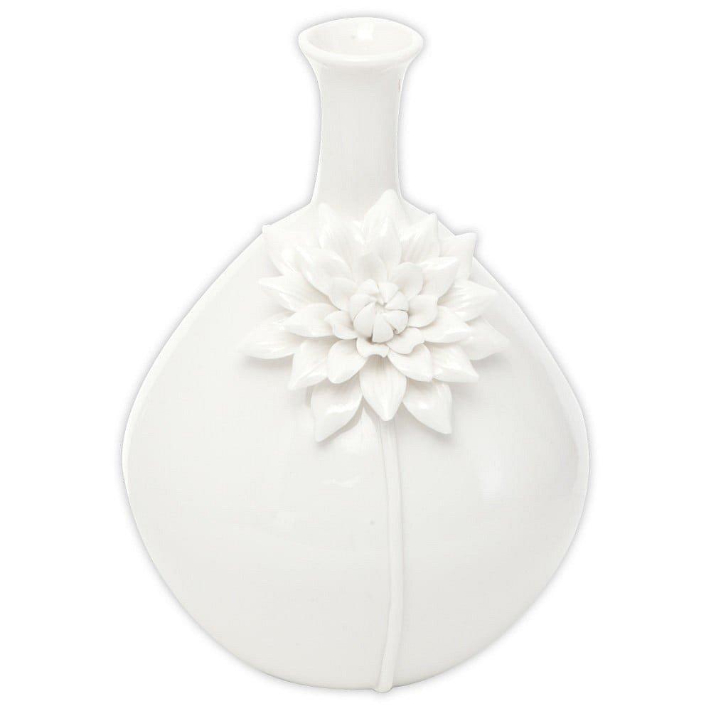 Bílá porcelánová váza Mauro Ferretti Sunflower, výška 25,5 cm