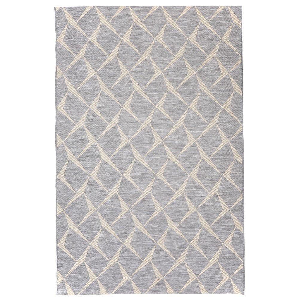 Šedý venkovní koberec Floorita Rete, 194 x 290 cm