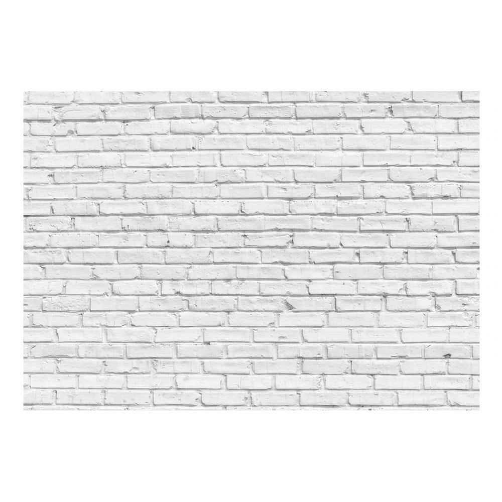 Bílá velkoformátová tapeta Bimago Stone, 400x280cm
