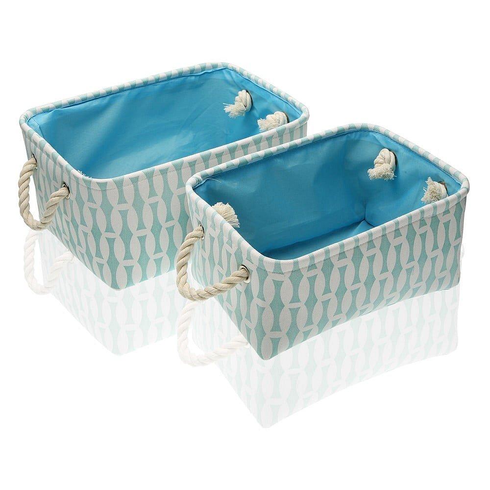 Sada 2 modrých úložných košíků Versa Eyra