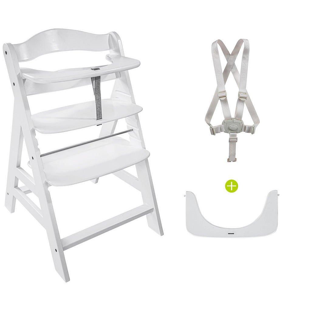 Hauck Kombinovaná Vysoká Židle, Buk, Bílá - Vysoké židličky - 001911002801