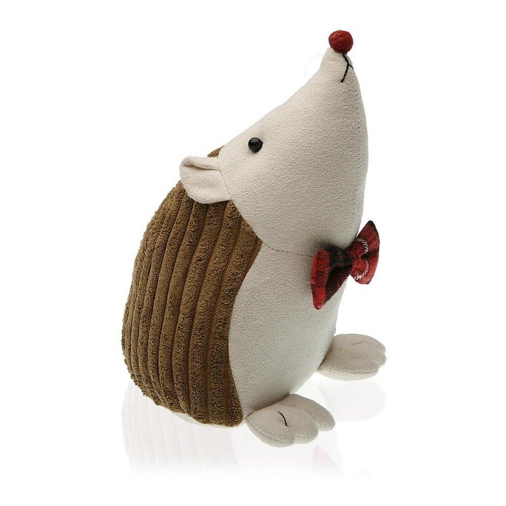 Hnědá zarážka do dveří ve tvaru ježka Versa Hedgehog