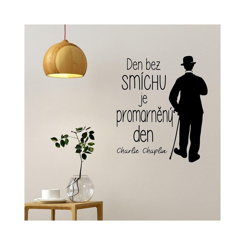 Samolepka na zeď s citátem Ambiance Charlie Chaplin