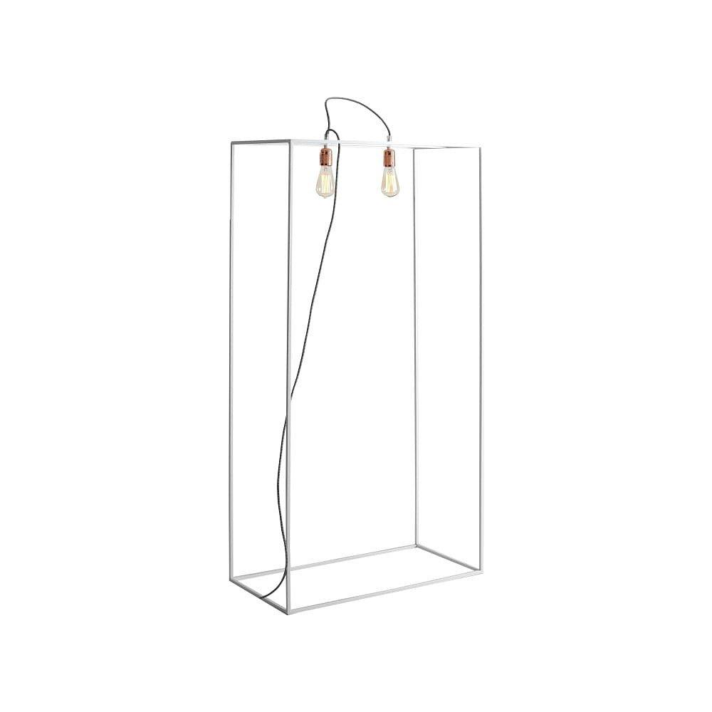 Bílá stojací lampa Custom Form Metric, šířka70cm