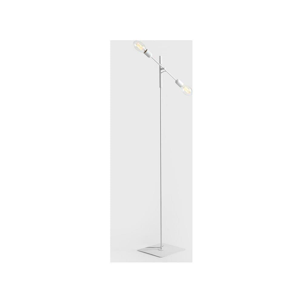 Bílá stojací lampa pro 2 žárovky Custom Form Twigo