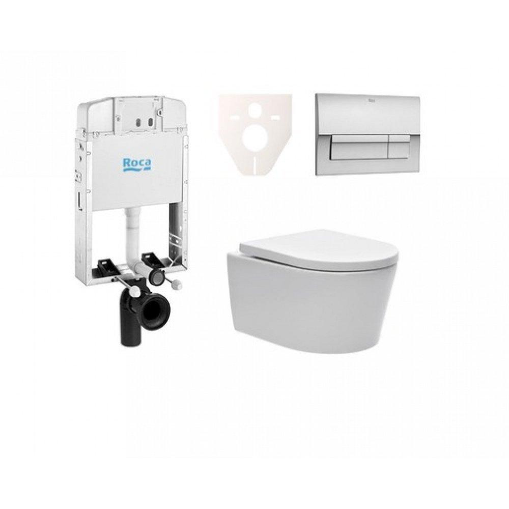 Závěsný set WC SAT Brevis, nádržka ROCA, tlačítko CR mat SIKORSW6