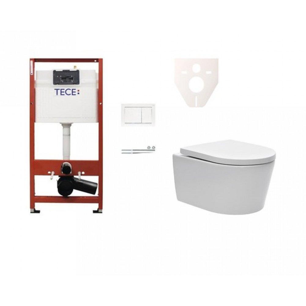 Závěsný set WC SAT Brevis, nádržka TECE, tlačítko bílé SIKOTSW0