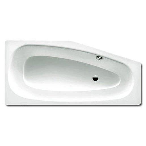 Asymetrická vana Kaldewei Mini 157x75 cm smaltovaná ocel pravá alpská bílá 224800010001