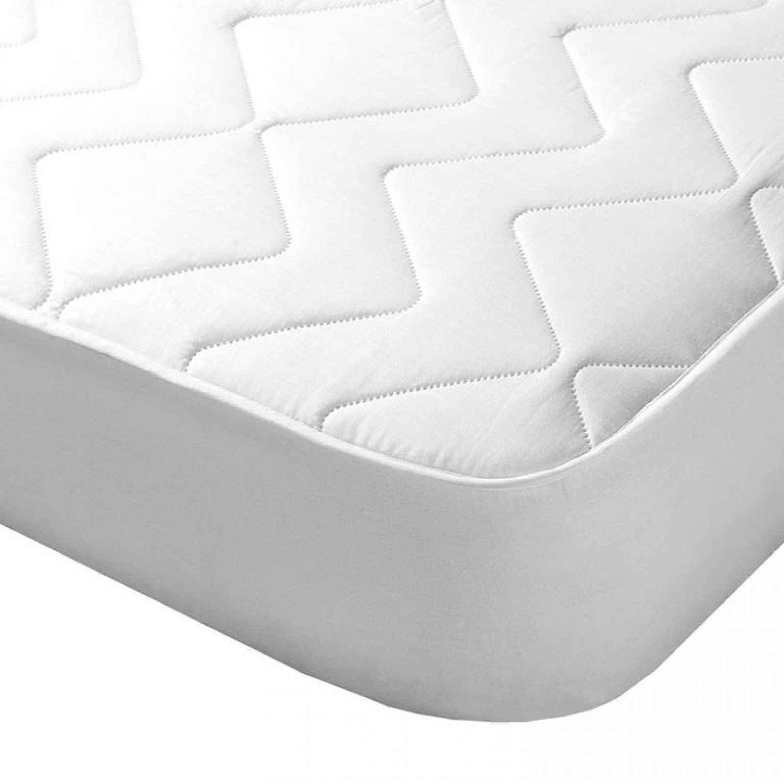 Concept Prošívaný chránič matrace s aloe vera bílý 160 x 200 cm