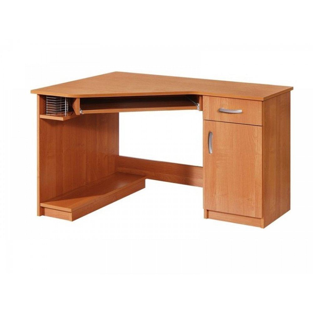 PC stůl rohový CARMEN, pravý, barva: