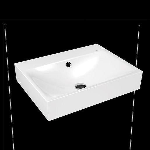 Umyvadlo Kaldewei Silenio 3044 60x46 cm alpská bílá bez otvoru pro baterii 904306003001
