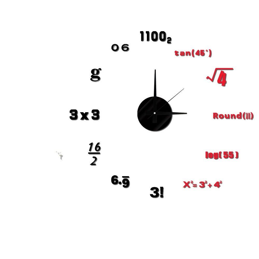 Nástěnné nalepovací hodiny Mauro Ferretti Math, ⌀ 50 cm