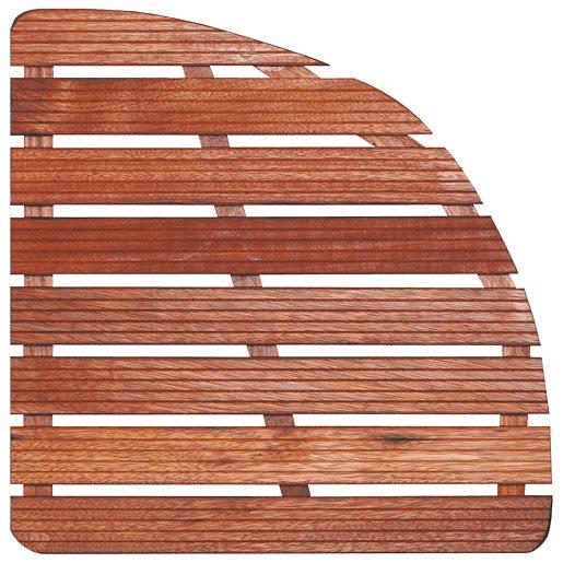 Sprchová rohož Aris dřevo ČTVRTKRUH 74x74x4cm ROHOZ90S