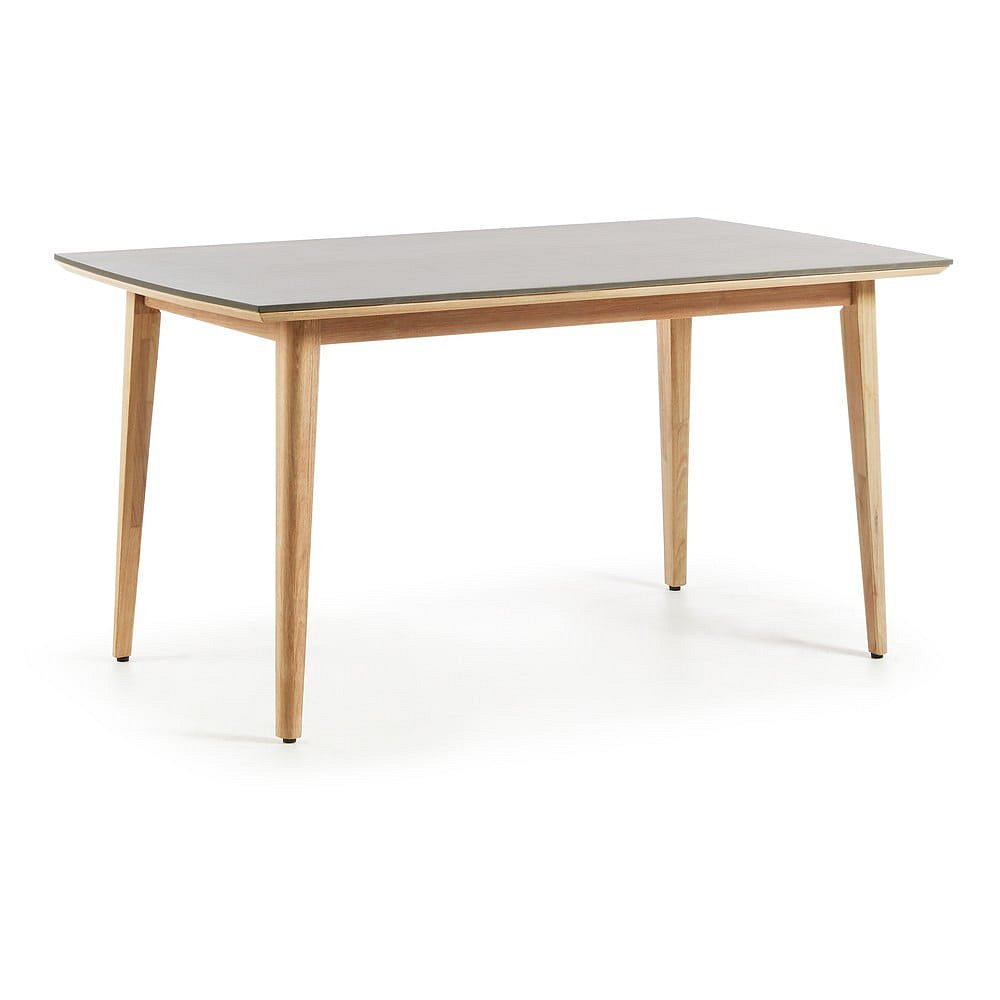 Stůl z eukalyptového dřeva a polycementu La Forma Khloe, 160 x 90 cm