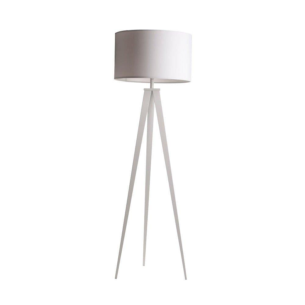 Bílá stojací lampa Zuiver Tripod, ø 50 cm