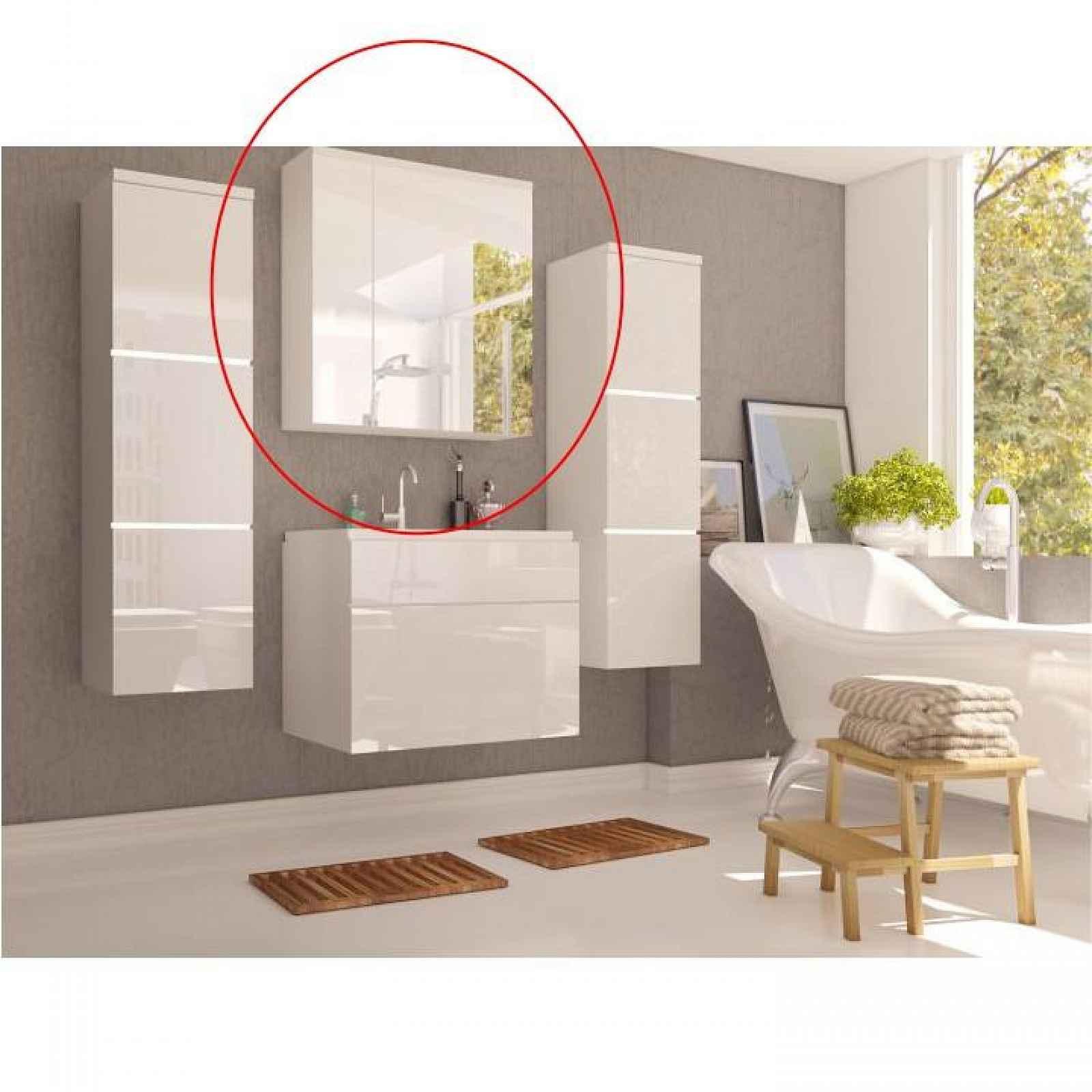 Skříňka se zrcadlem MASON Tempo Kondela Bílá