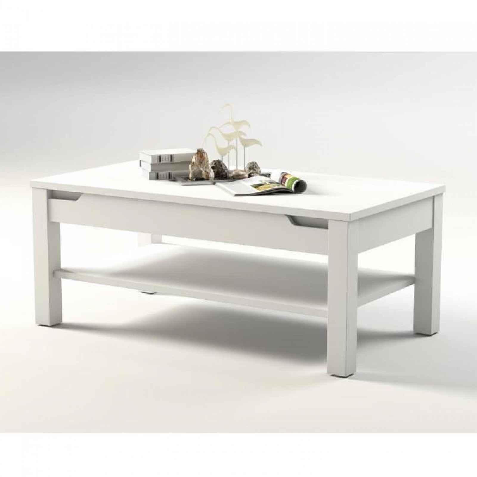 Konferenční stolek, bílá / bílá s extra vysokým leskem, ADONIS AS 96 0000186931 Tempo Kondela