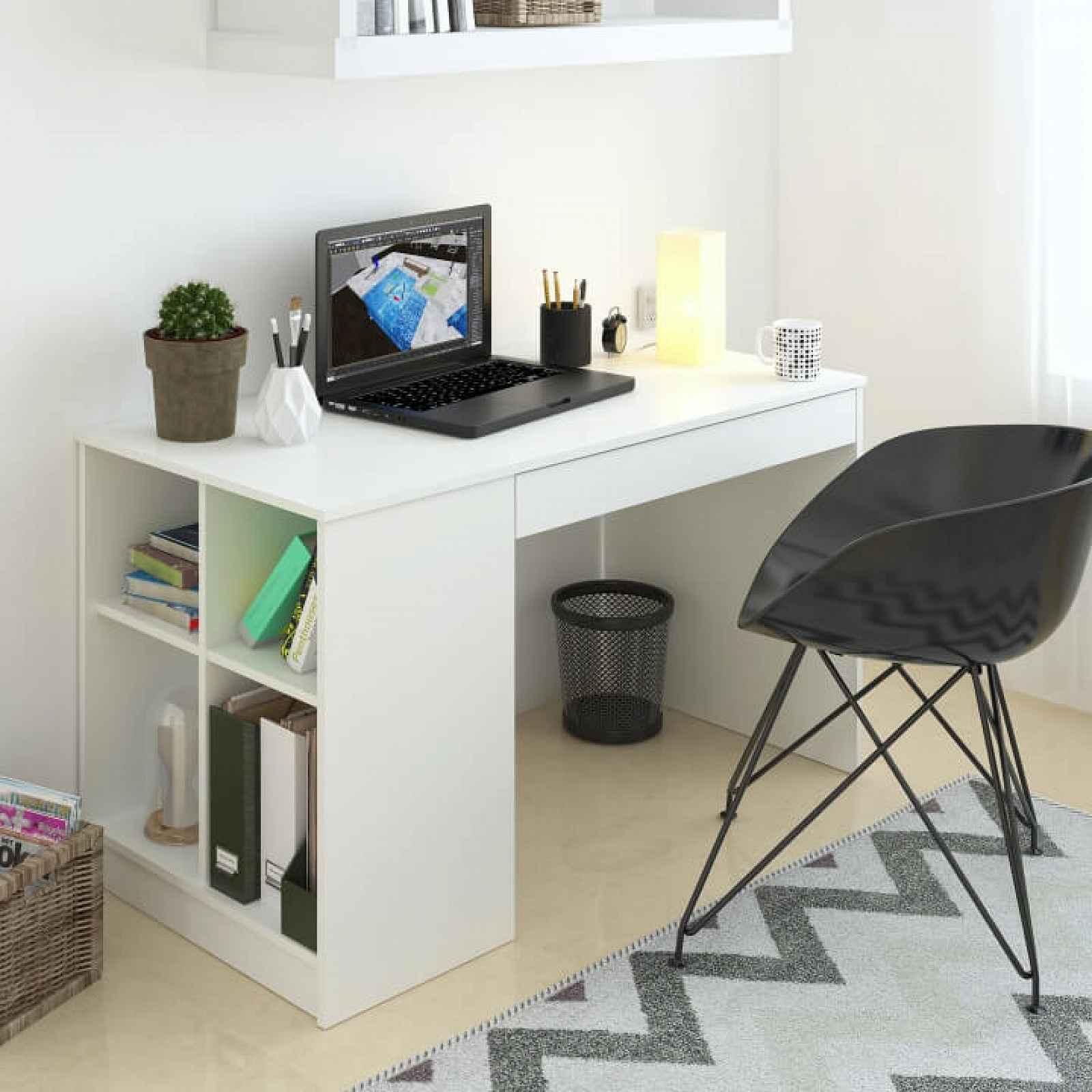 Počítačový stůl VENDI Tempo Kondela Bílá