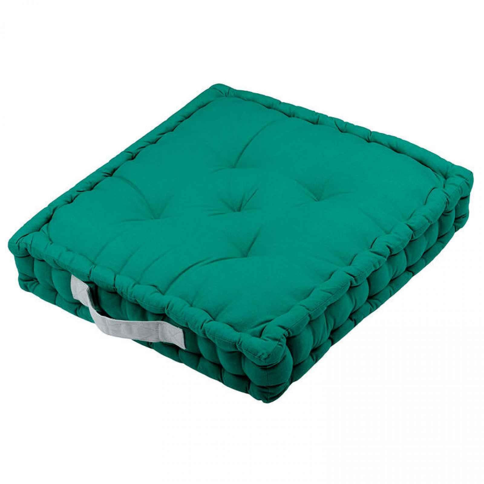 Sedací polštář na zem DUO UNI zelená sada 4 ks