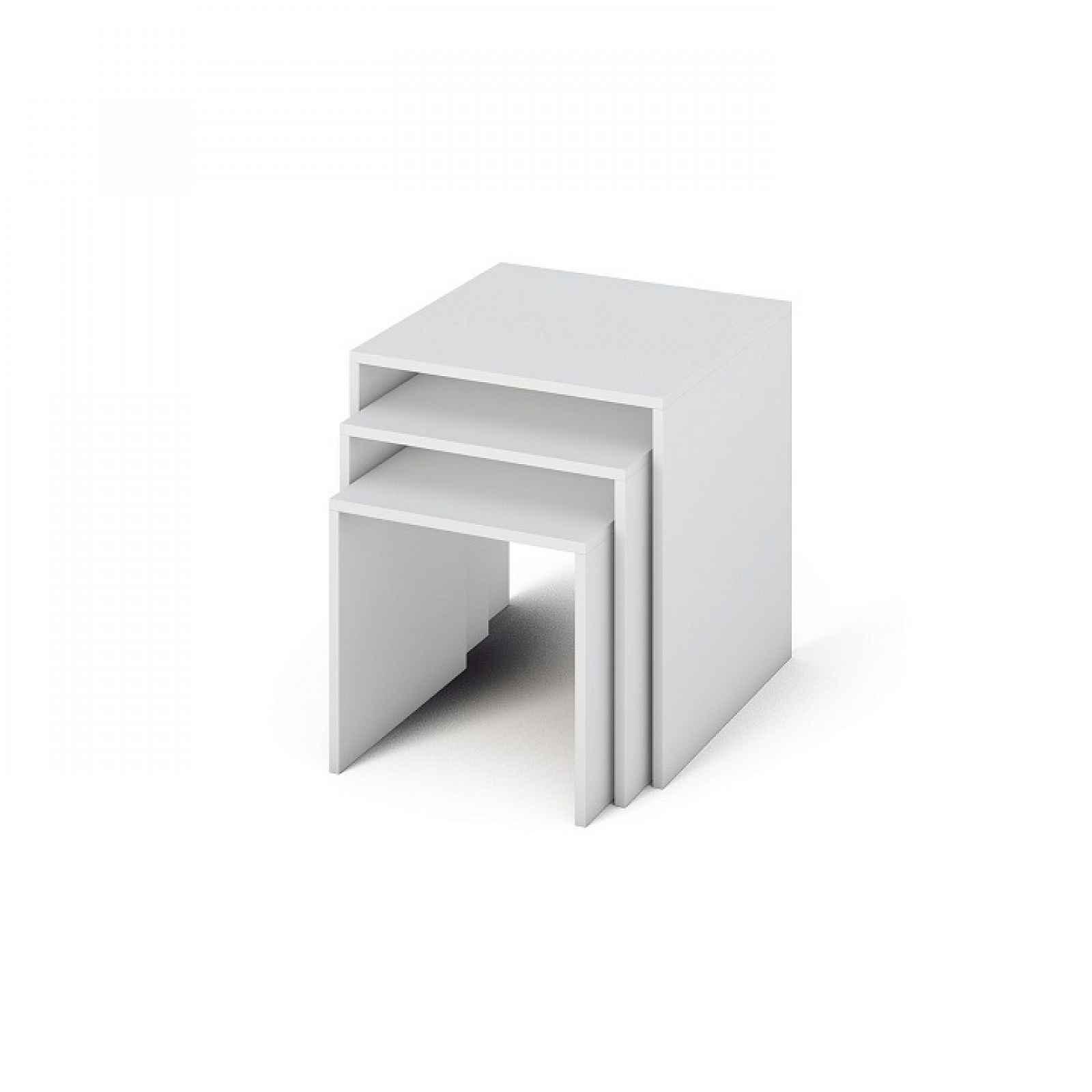 Sada tří příručních stolků, bílá, SIPANI  NEW 0000185698 Tempo Kondela