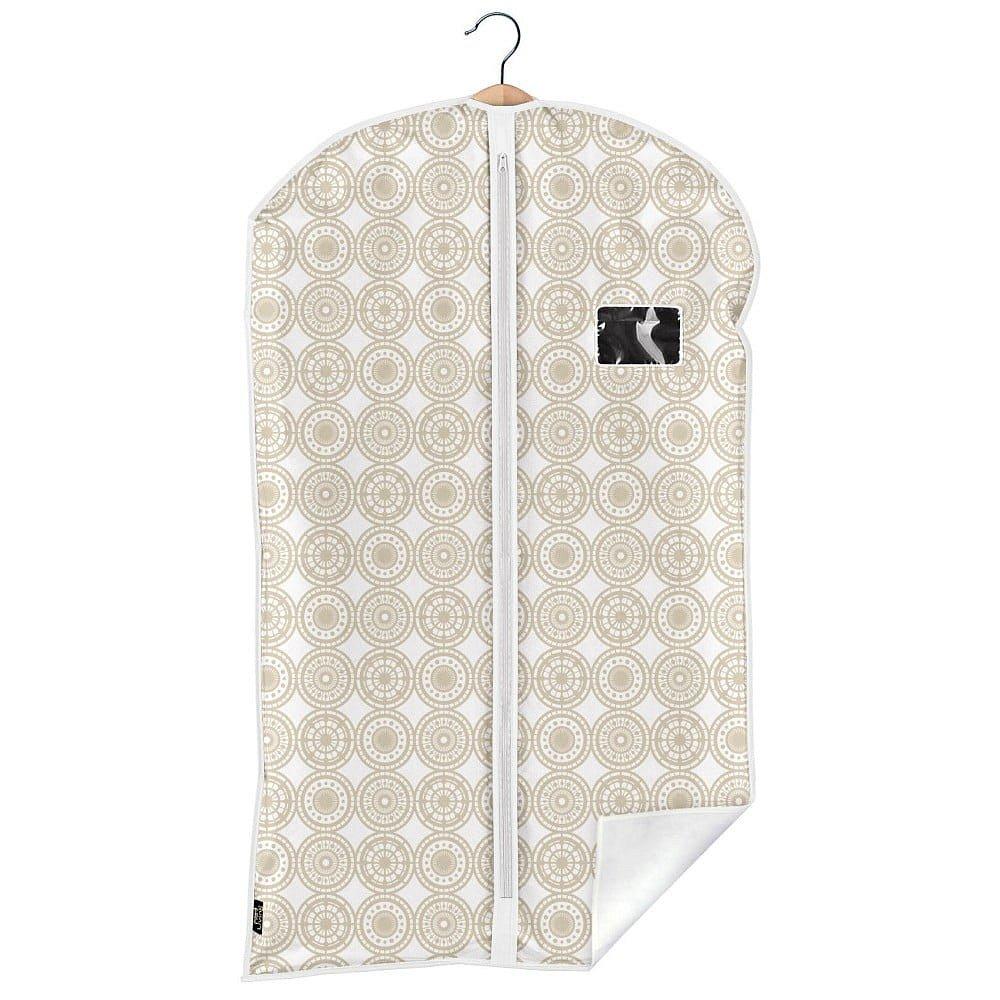 Béžový obal na oblek Domopak Ella, délka100cm
