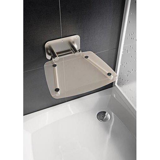 Sprchové sedátko Ravak OVO B sklopné š. 36 cm čirá B8F0000051
