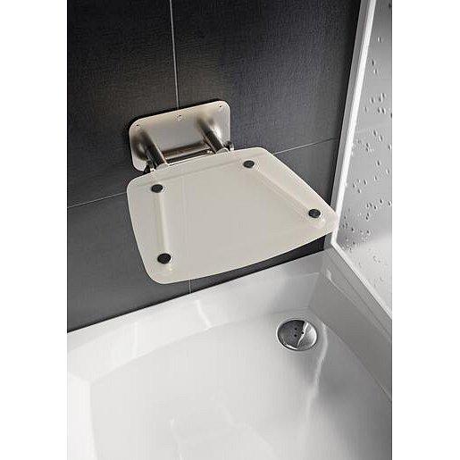 Sprchové sedátko Ravak OVO B sklopné š. 36 cm průsvitně bílá B8F0000052