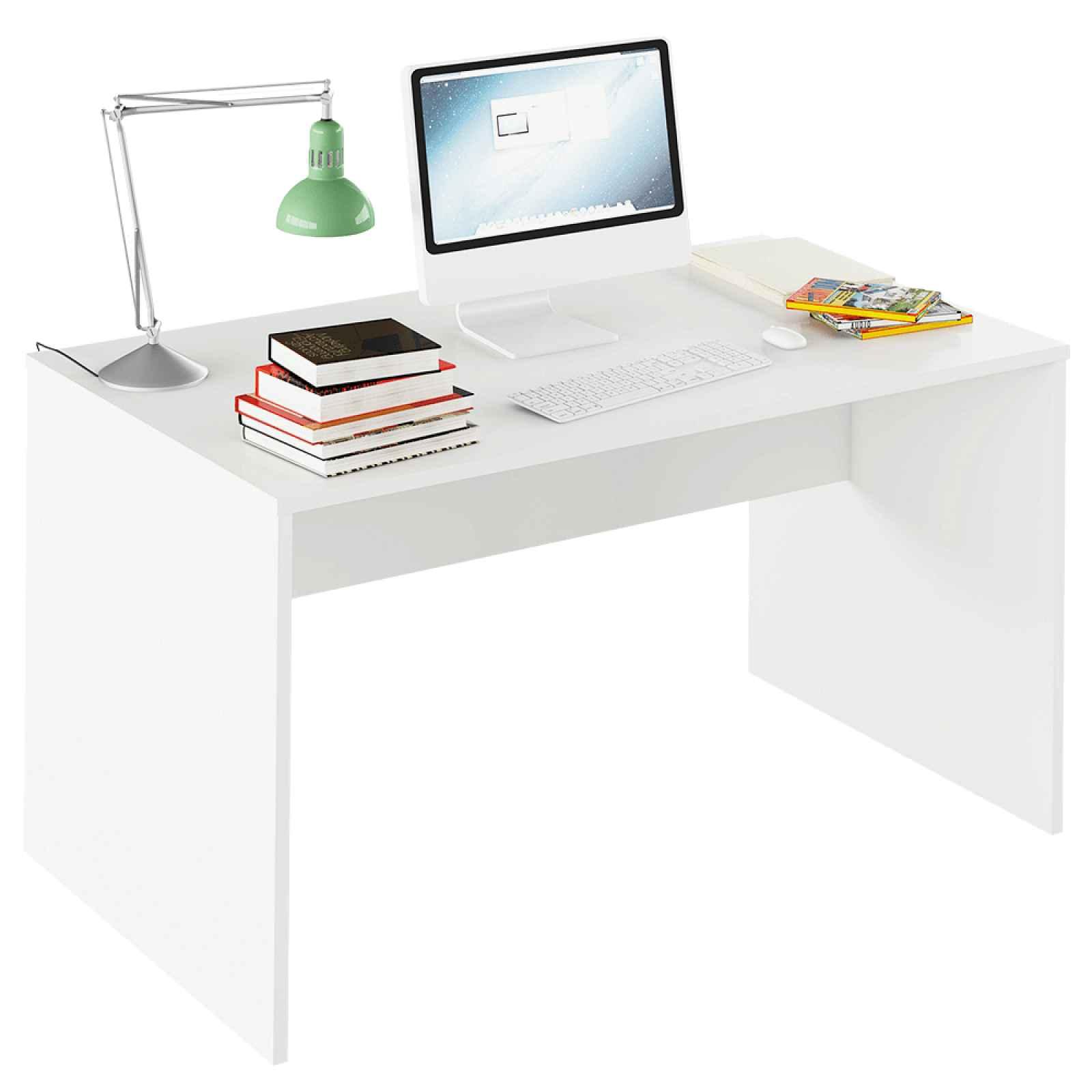 PC stůl, grafit / bílá, Rioma TYP 11 0000185732 Tempo Kondela Bílá