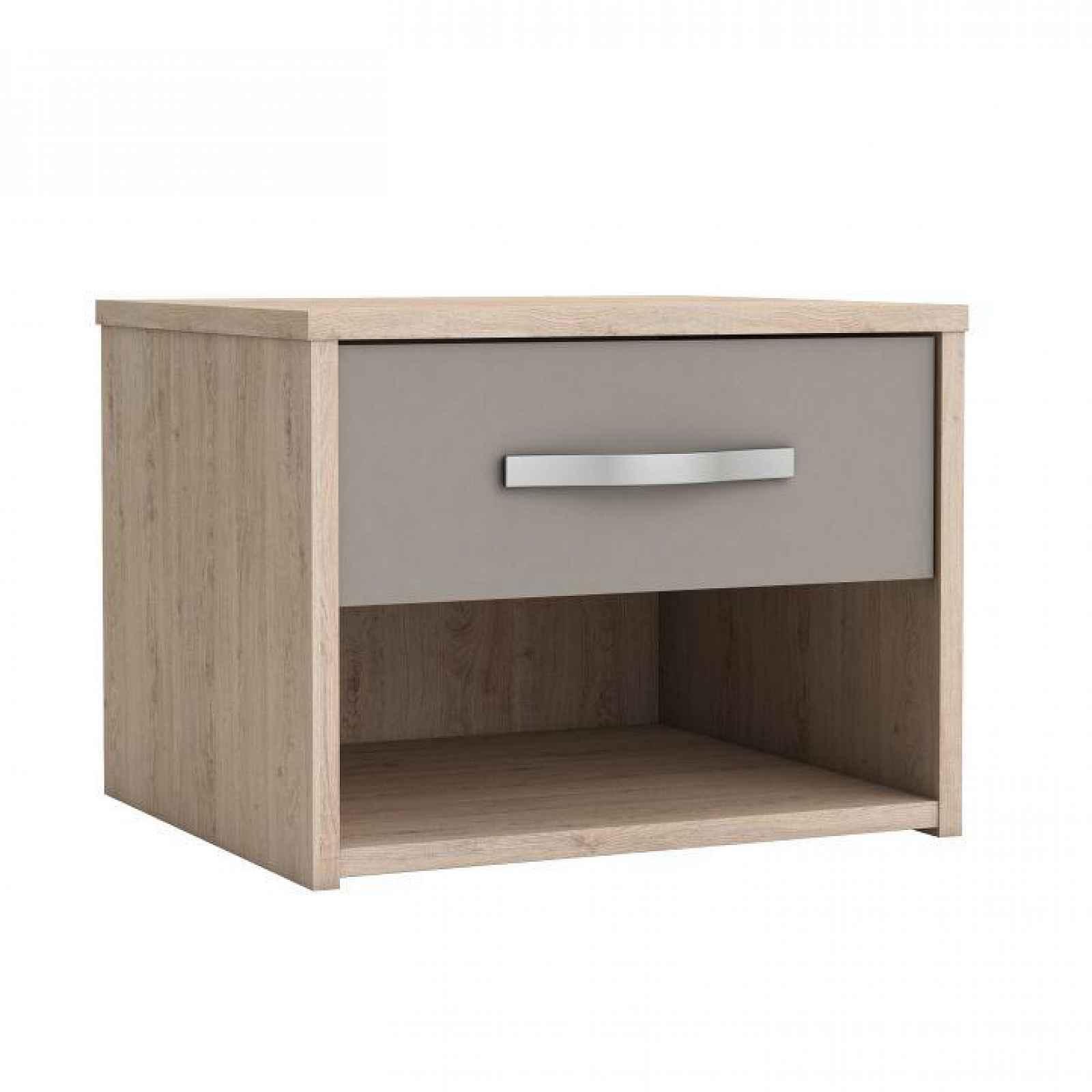 Noční stolek se zásuvkou, dub arizona / šedá, GRAPHIC 0000186087 Tempo Kondela