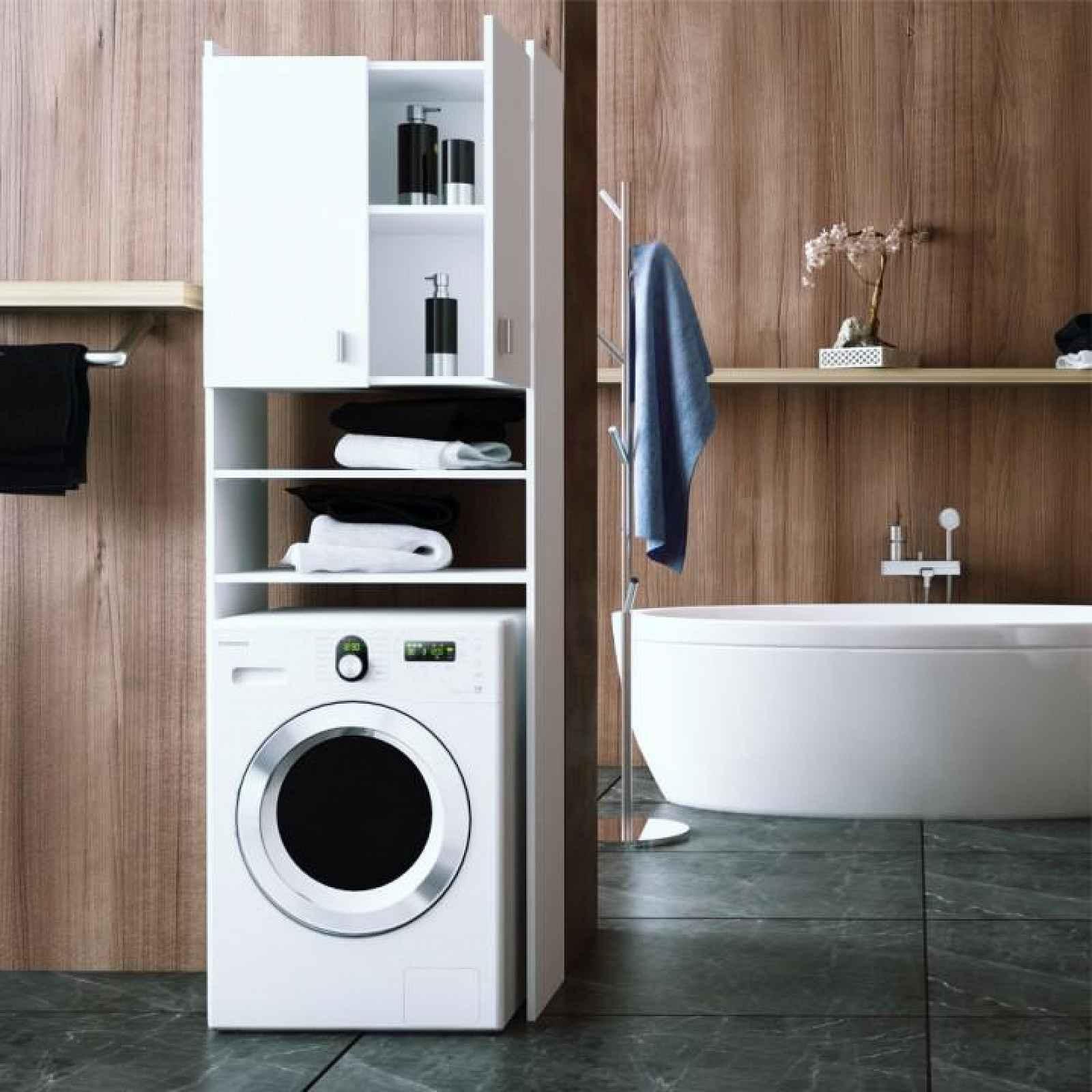 Skříňka nad pračku NATALI Tempo Kondela Bílá