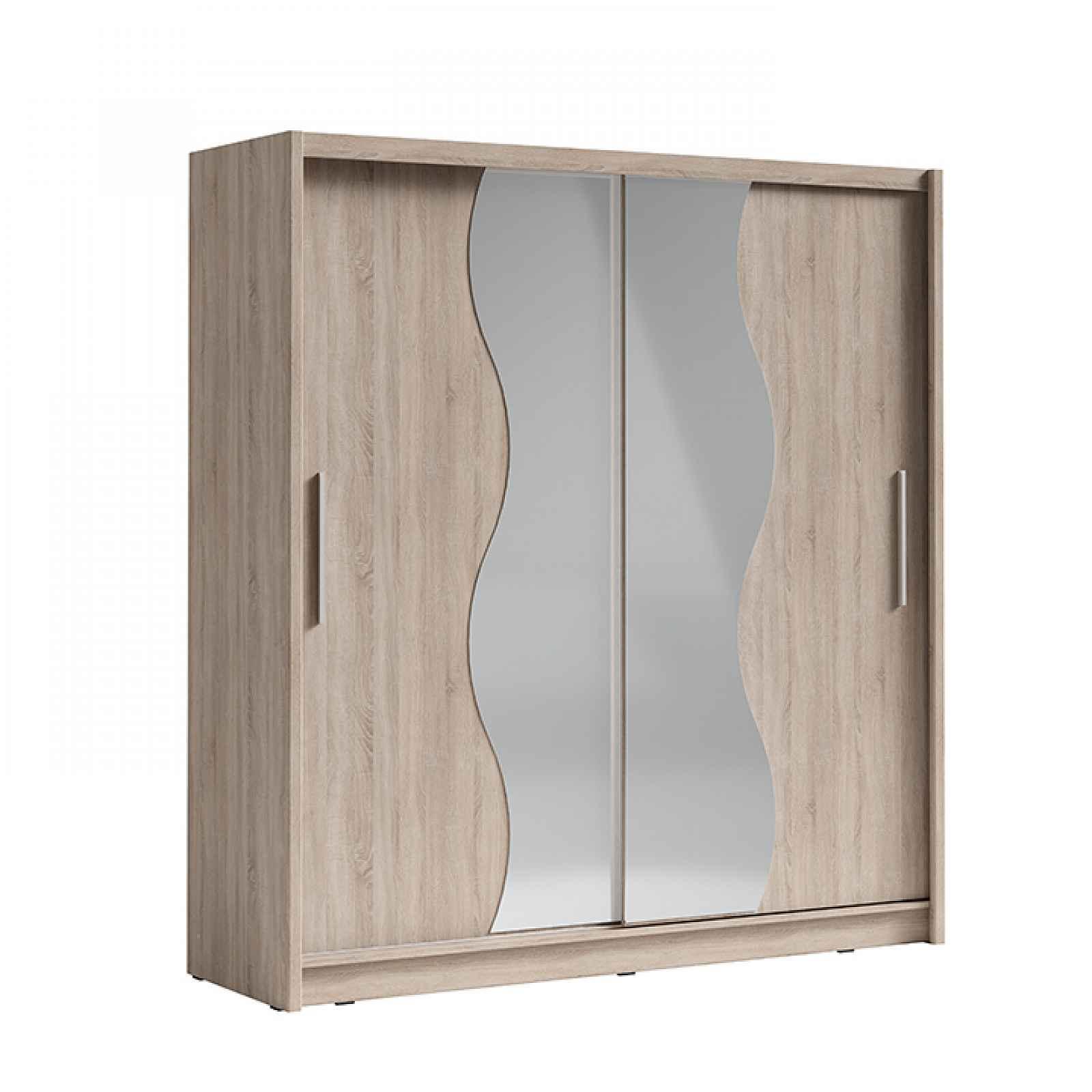 Skříň s posuvnými dveřmi, dub sonoma, BIRGAMO TYP 1 0000237437 Tempo Kondela