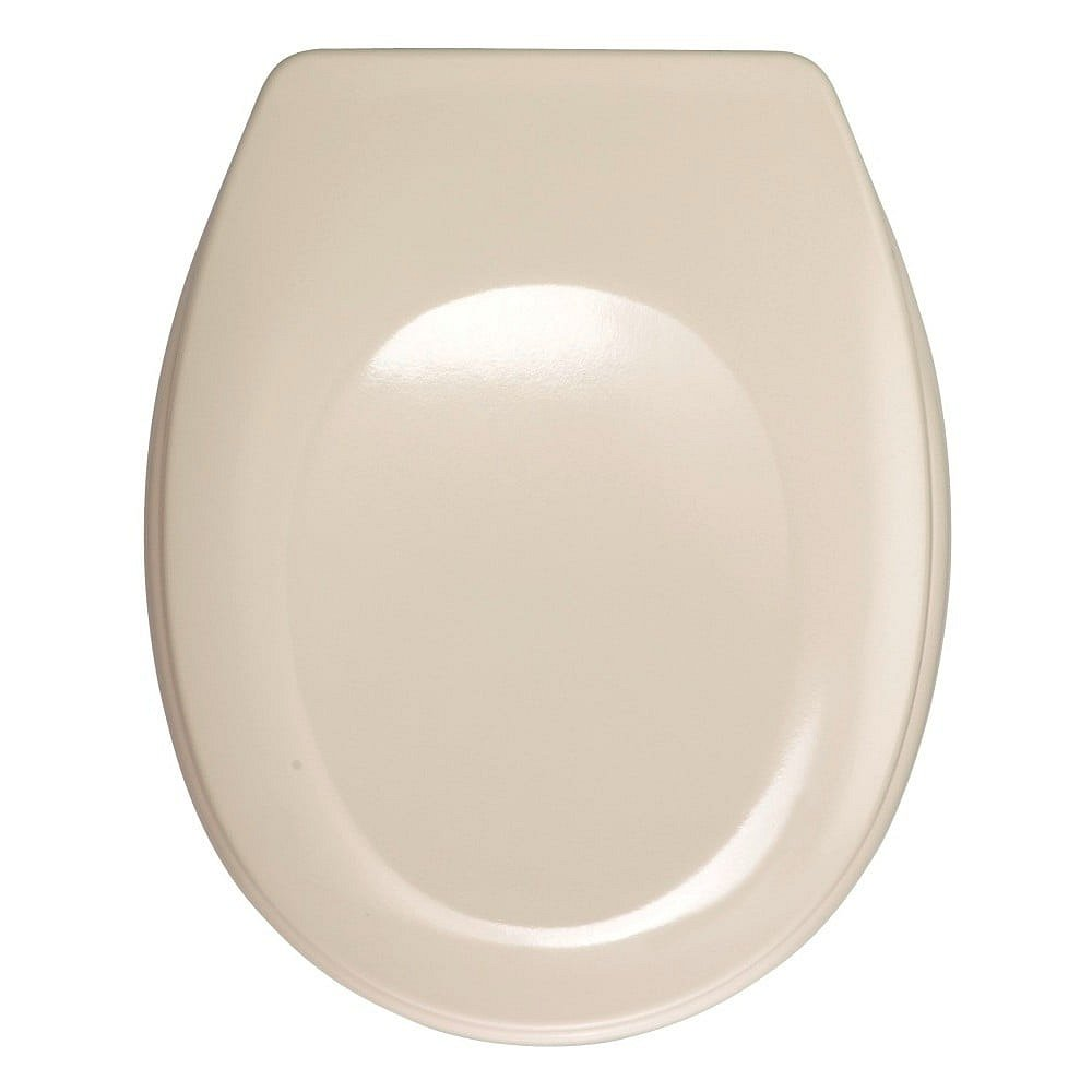 Světle růžové WC sedátko Wenko Bergamo, 44,4 x 37,3 cm