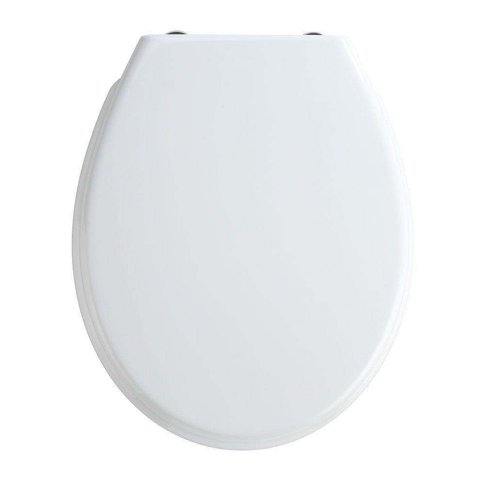 Bílé WC sedátko se snadným zavíráním Wenko Bilbao, 44,5 x 37 cm