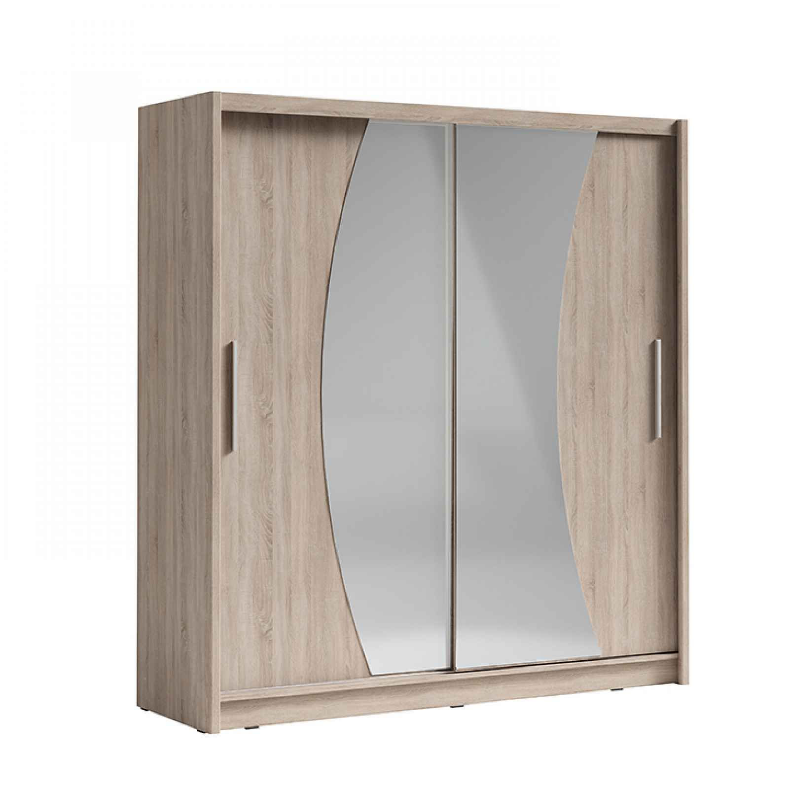 Skříň s posuvnými dveřmi, dub sonoma, BIRGAMO TYP 2 0000237438 Tempo Kondela