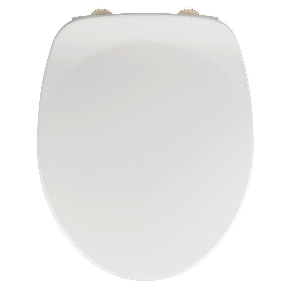Bílé WC sedátko se snadným zavíráním Wenko Armonia, 44,5 x 37 cm