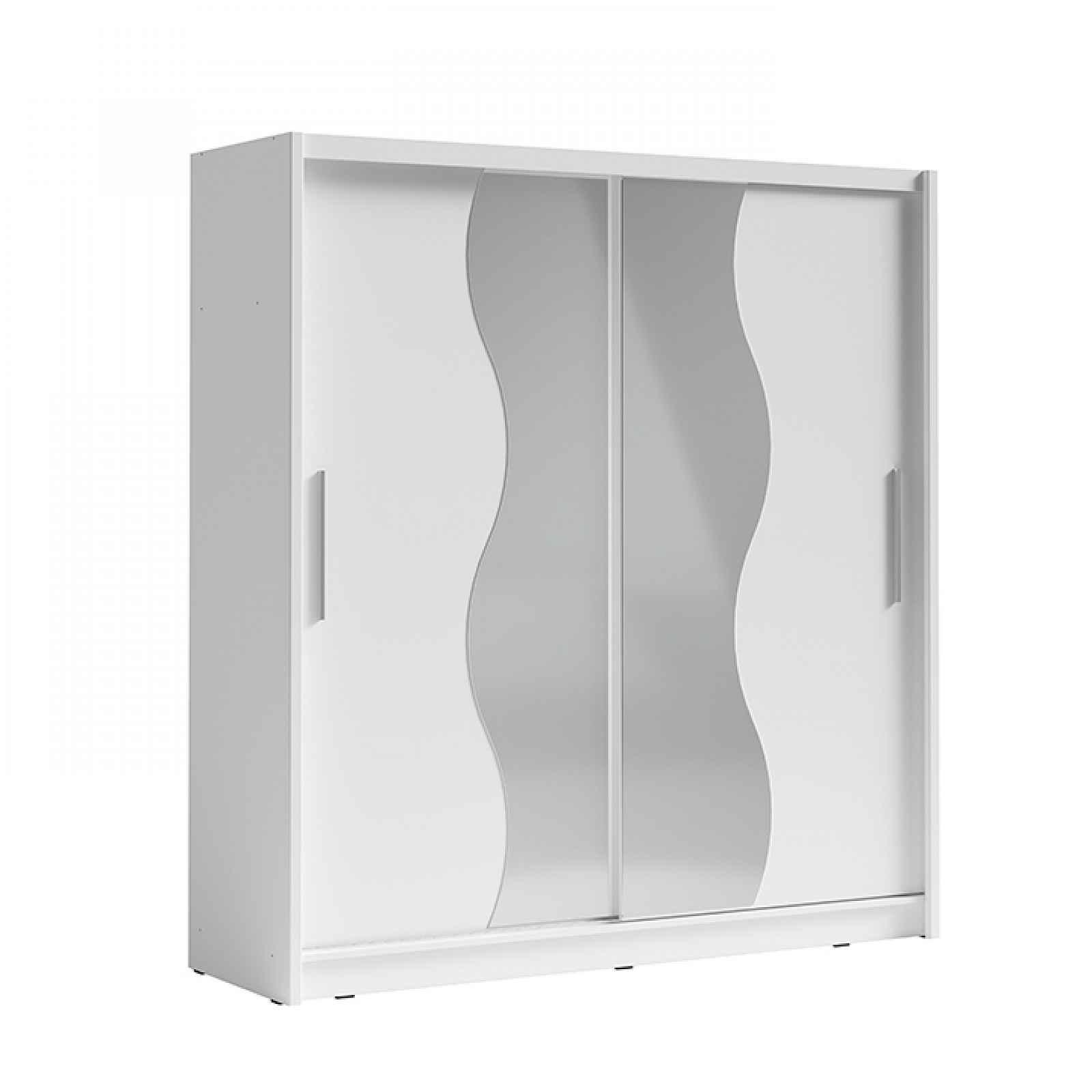 Skříň s posuvnými dveřmi, bílá, BIRGAMO TYP 1 0000237485 Tempo Kondela