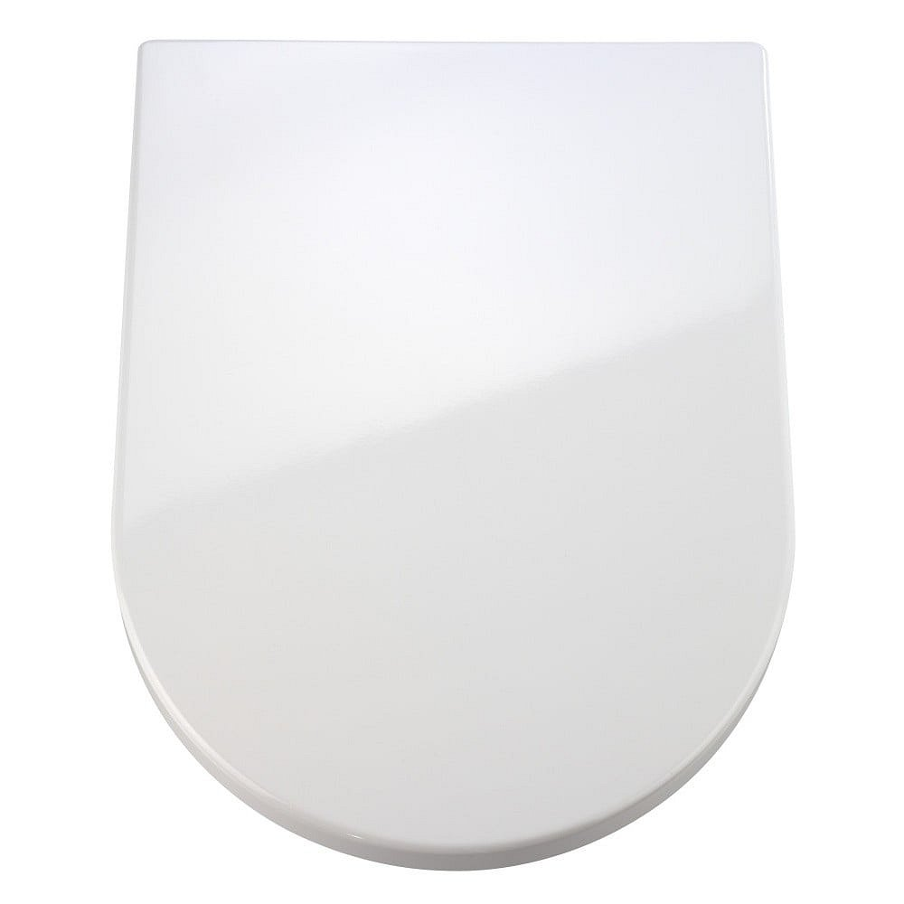 Bílé WC sedátko se snadným zavíráním Wenko Premium Palma, 46,5 x 35,7 cm