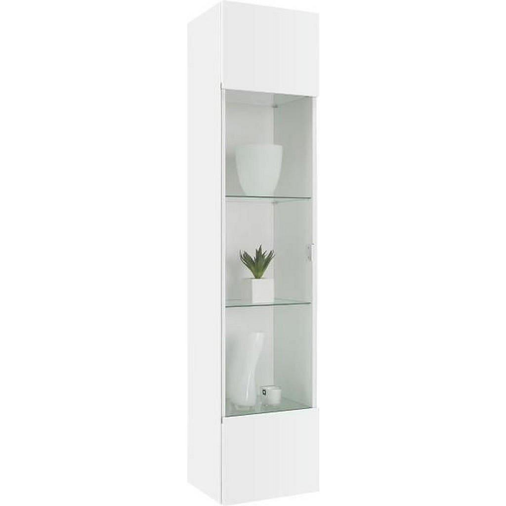 XXXLutz Závěsná Vitrína, Bílá - Závěsné skříňky - 001087030601