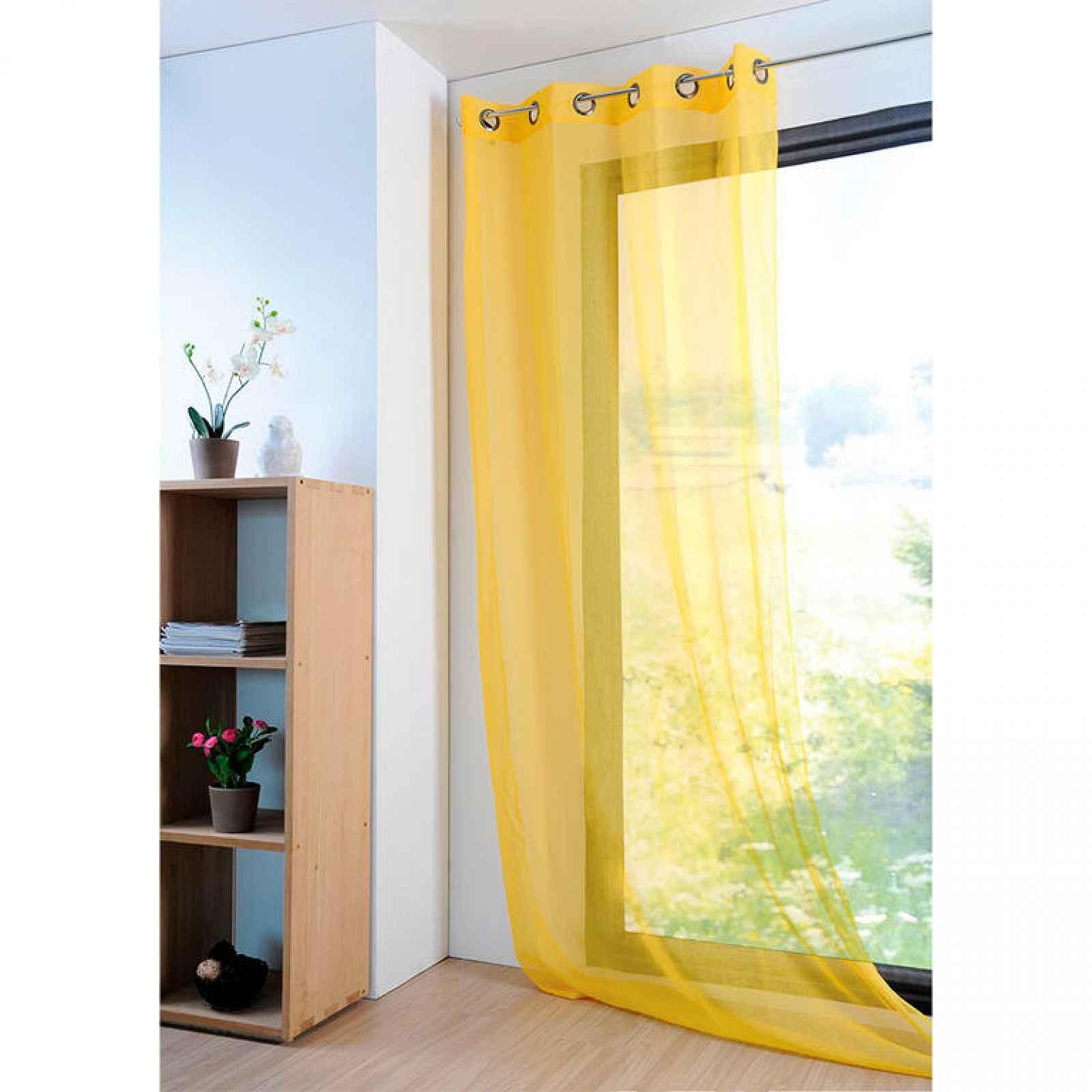 Dekorační závěs MONNA žlutá 135 x 260 cm 1 ks