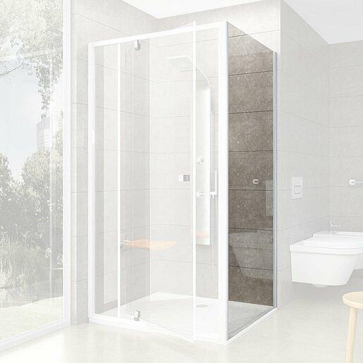 Boční zástěna ke sprchovým dveřím 100x190 cm Ravak Pivot bílá 90GA0100Z1
