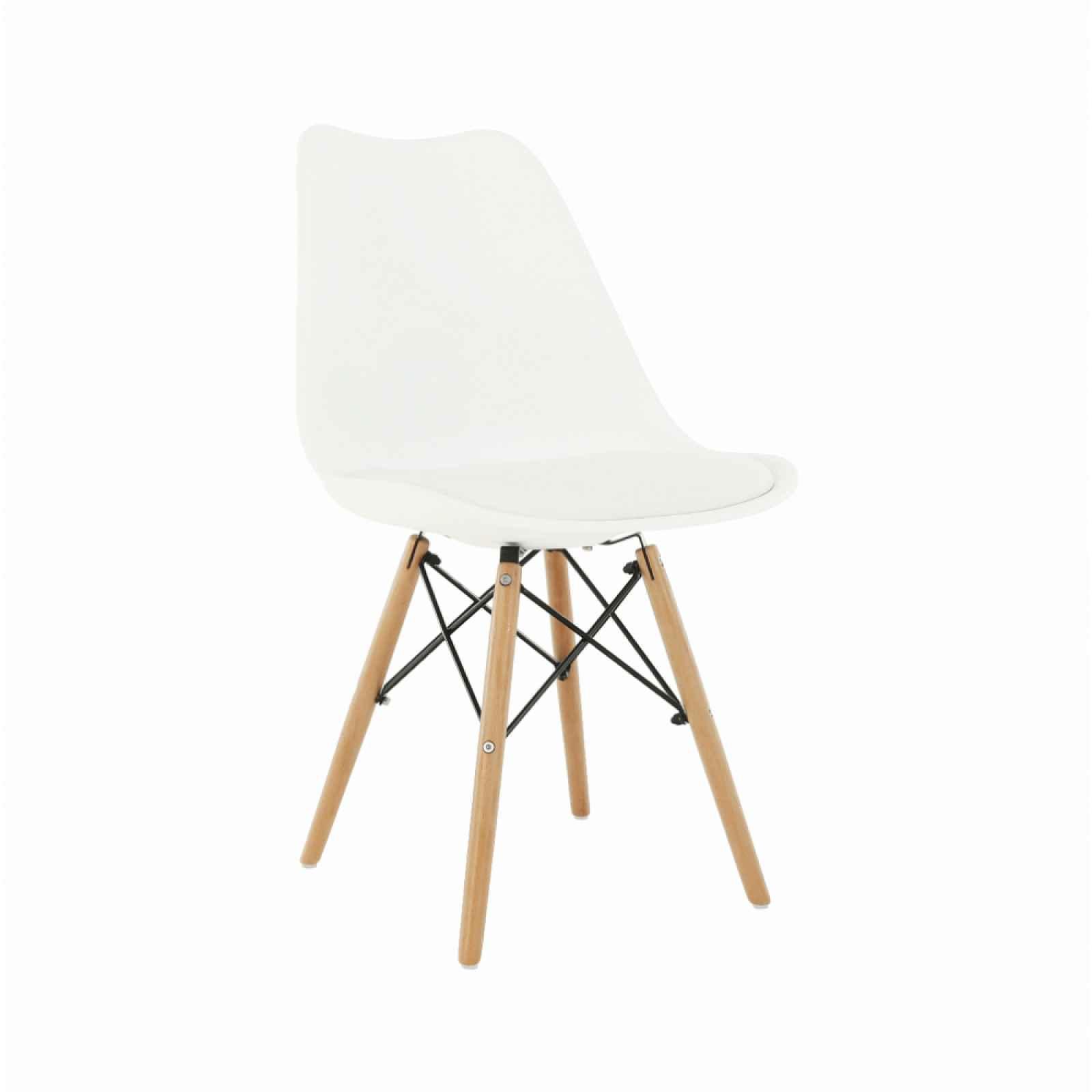 Jídelní židle KEMAL NEW ekokůže / plast / dřevo Tempo Kondela Bílá