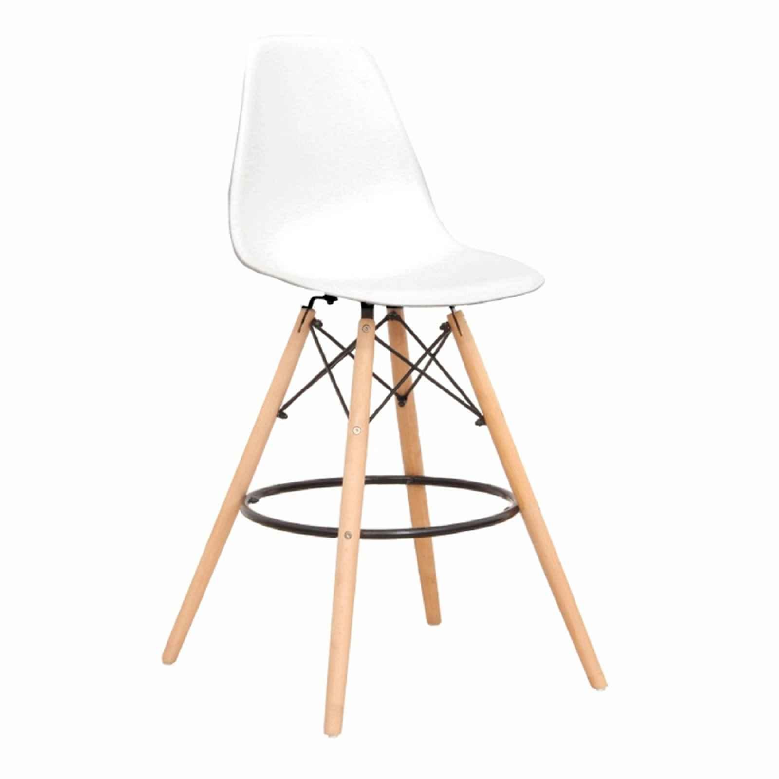 Barová židle CARBRY 2 NEW bílá / buk Tempo Kondela