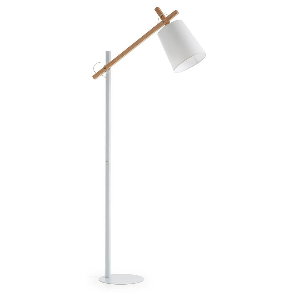 Bílá stojací lampa La Forma Jovik