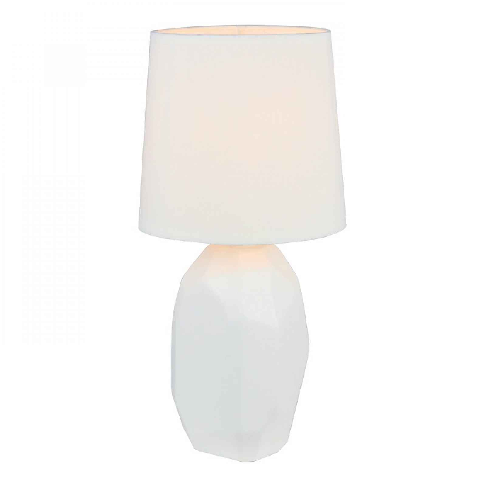 Keramická stolní lampa, bílá, QENNY TYP 1 0000190741 Tempo Kondela