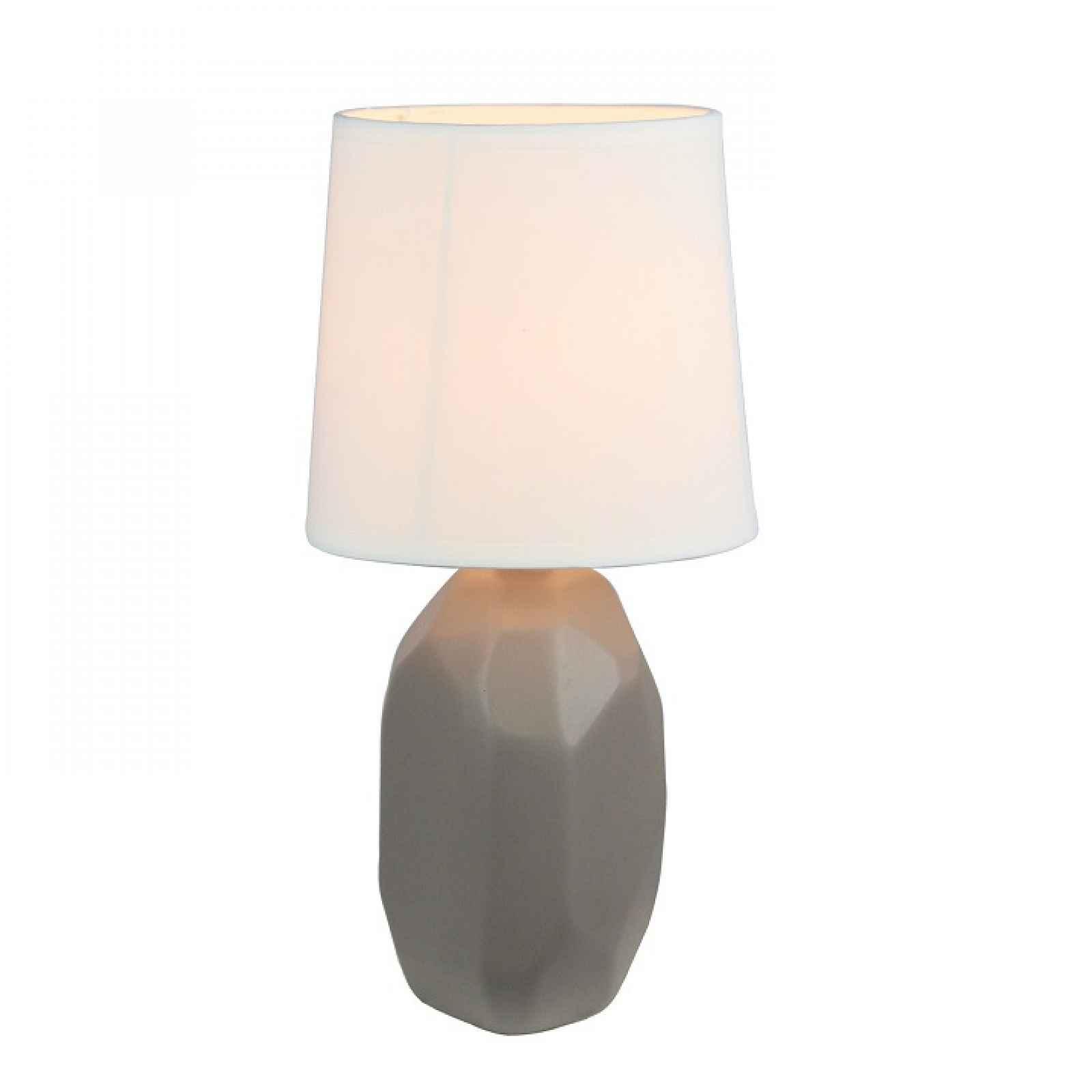 Keramická stolní lampa, šedohnědá taupe, QENNY TYP 3 0000190743 Tempo Kondela
