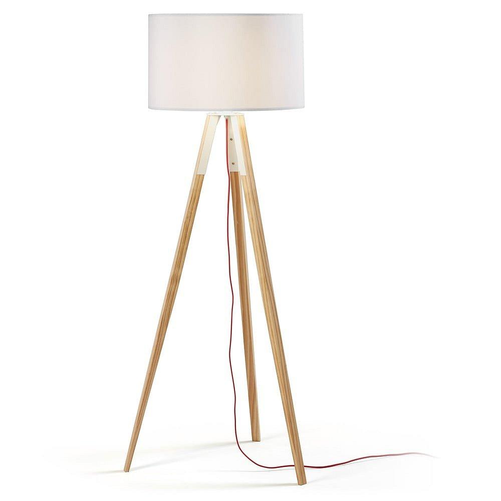Bílá stojací lampa La Forma Uzagi