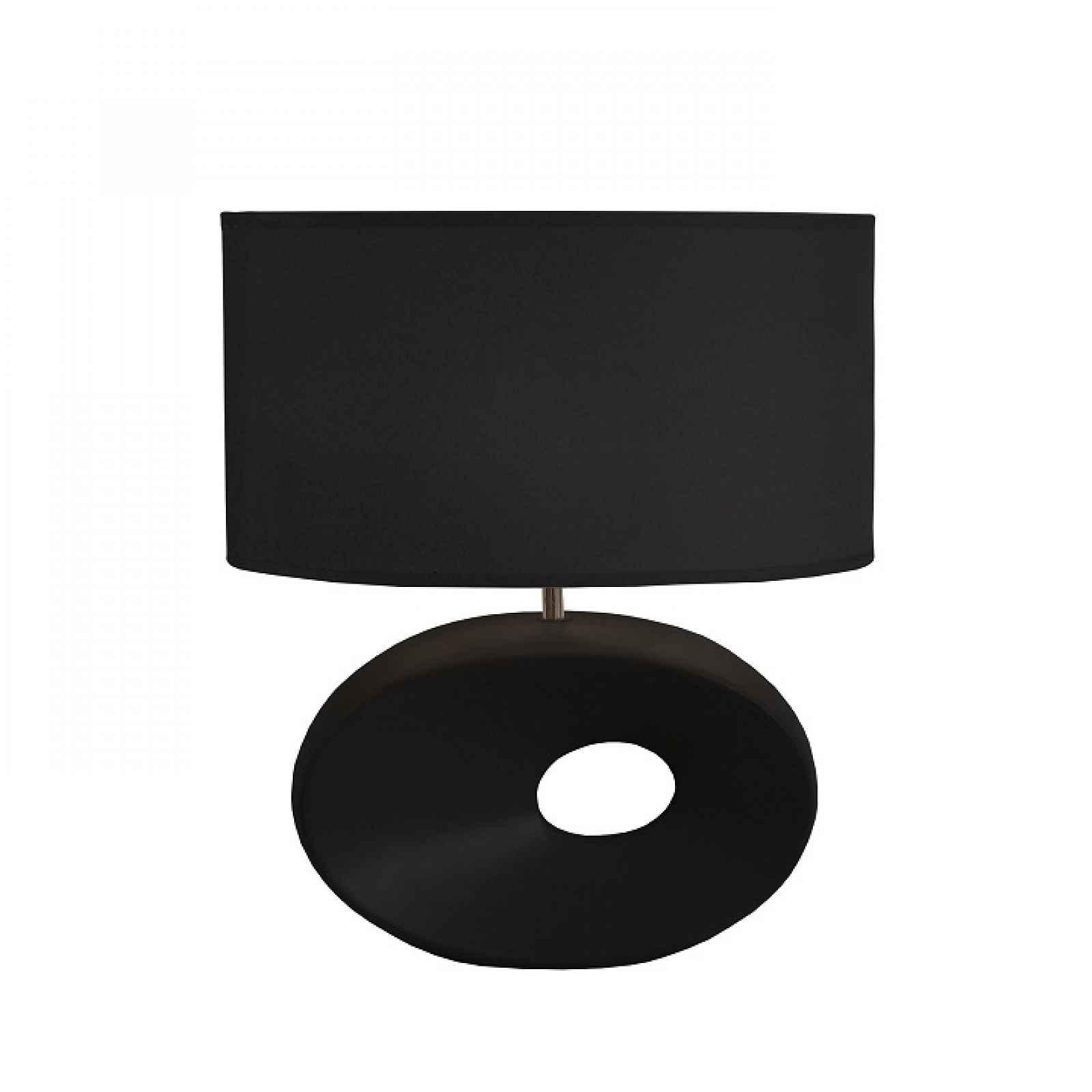 Keramická stolní lampa, černá, QENNY TYP 10 0000190751 Tempo Kondela