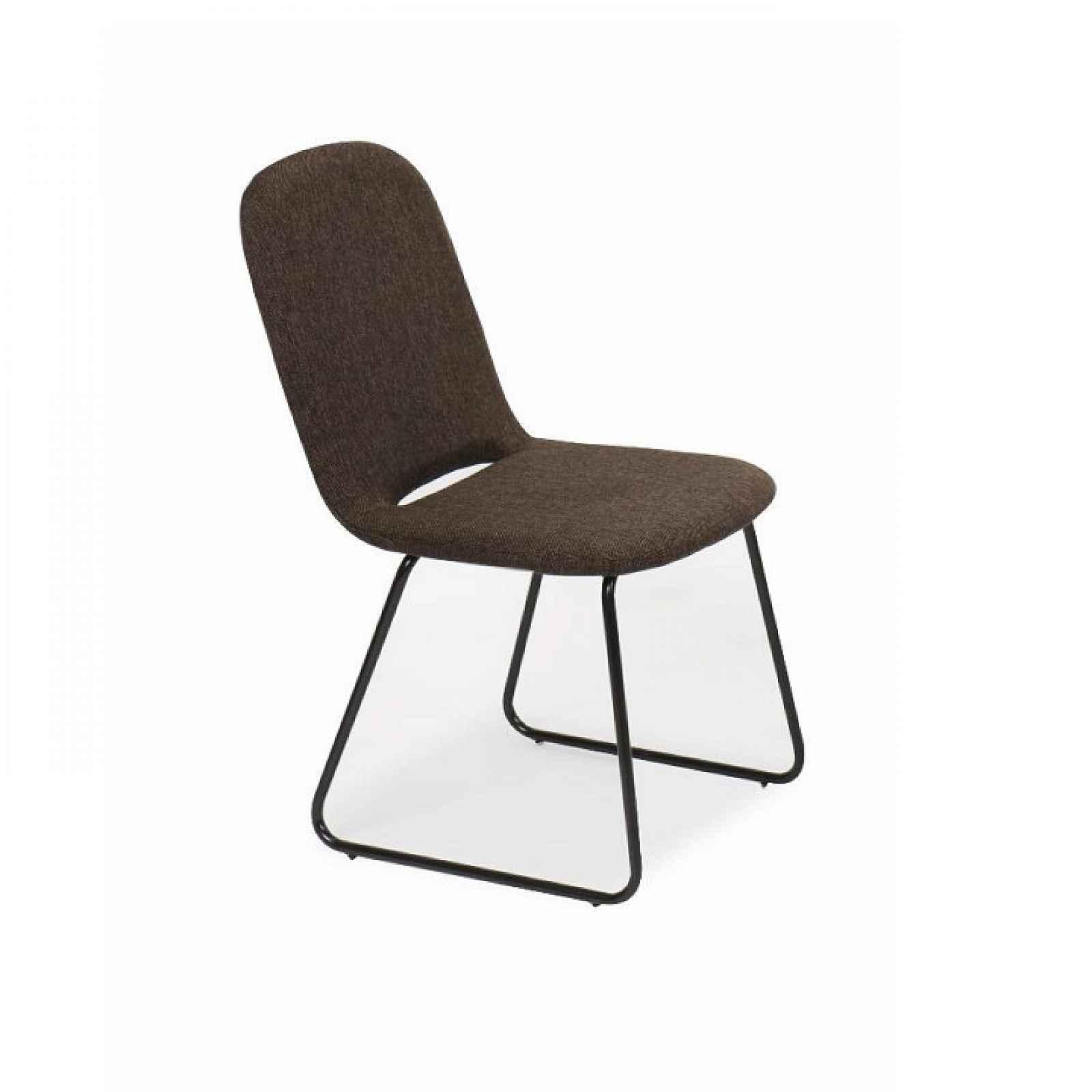 Jídelní židle, hnědá / černá, látka / kov, ADLAN 0000191493 Tempo Kondela