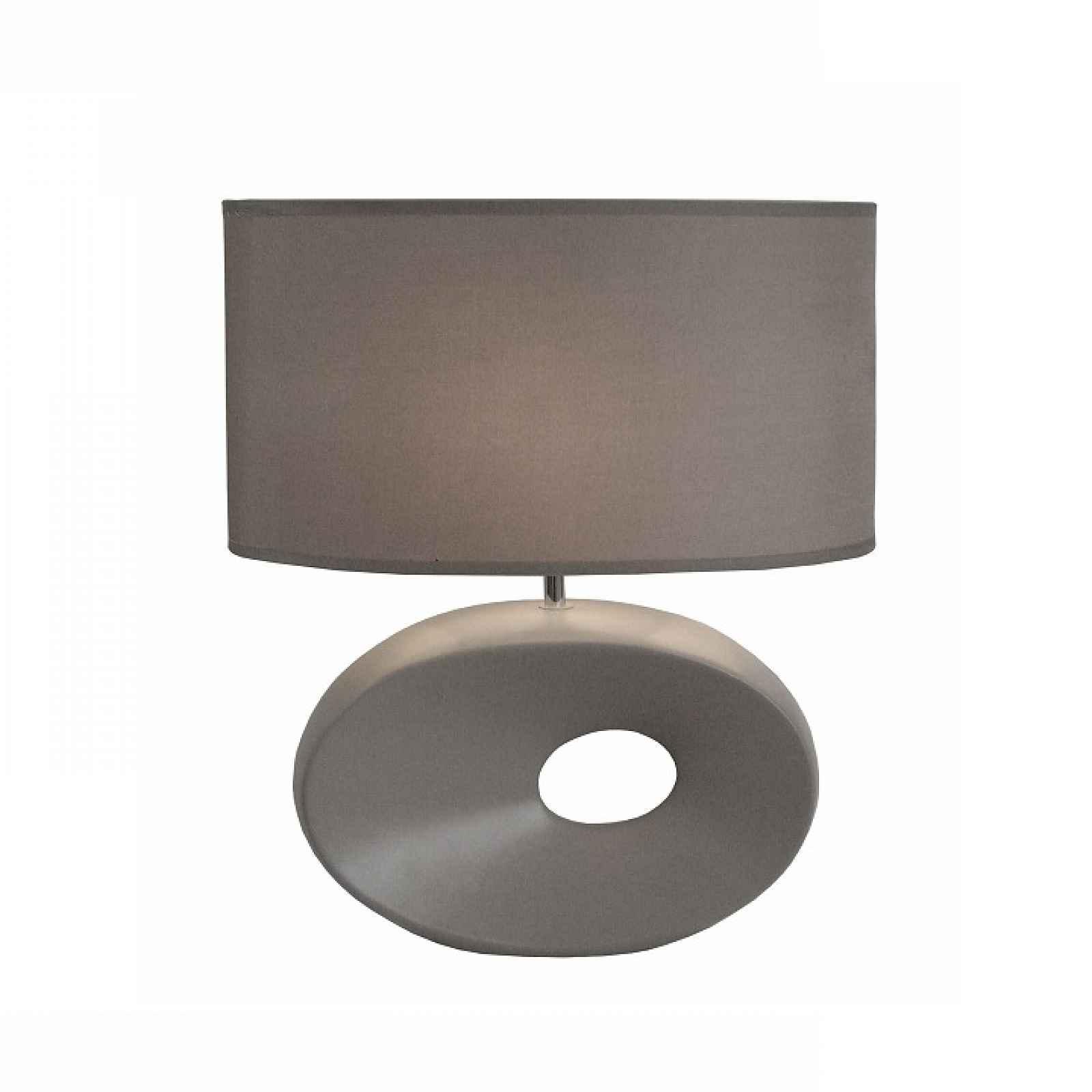 Keramická stolní lampa, sivá, QENNY TYP 11 0000190752 Tempo Kondela